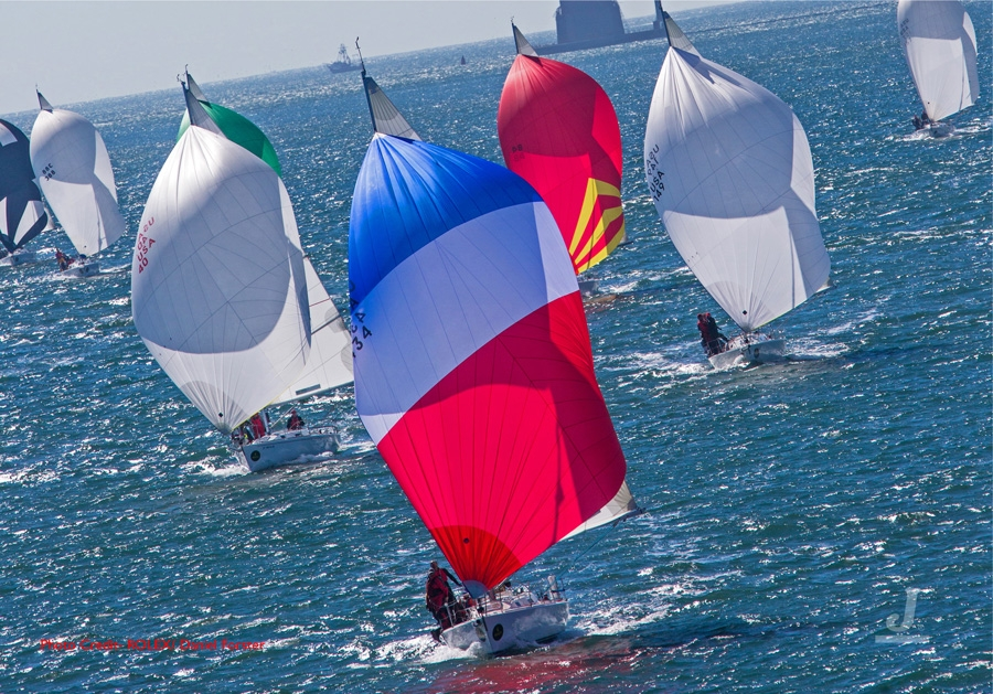 J/105s sailing at Rolex Big Boat Series- San Francisco
